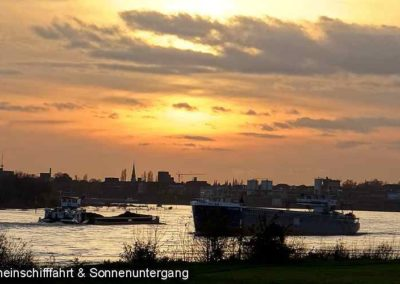 Rhine Ship Sundown