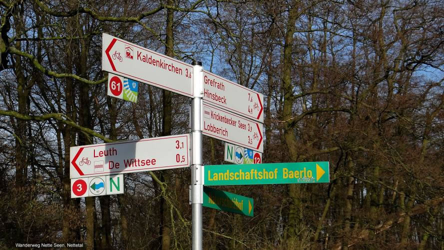 Cycle route signage Lower Rhine